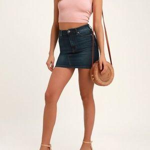 HOLLISTER denim blue jean mini skirt size 0